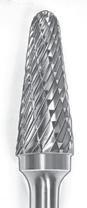 SGS Tool Company 15228 SL-3 Double Cut Carbide Bur 3/8 Diameter 1/4 Shank Diameter by SGS Tool Company