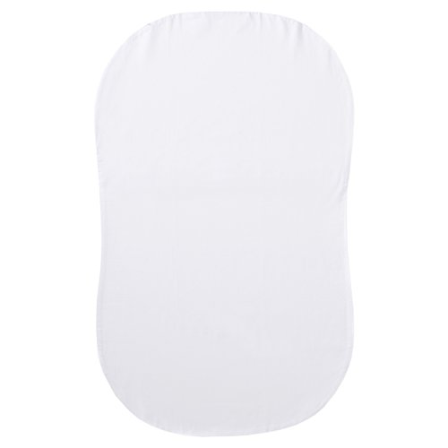 (Halo Bassinest Swivel Sleeper Fitted Sheet 100% Organic Cotton, White)