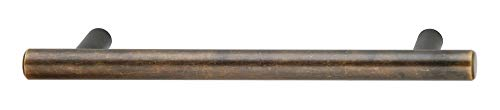 Handle, steel, oil rubbed bronze, M4, center to center 128mm (1 pcs/pkg) by ()
