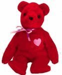 Ty Beanie Babies KISS-e - Valentine's Bear (Ty Store Exclusive)