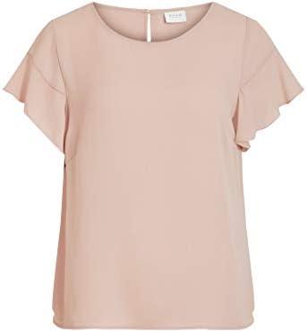 Vila NOS damska koszulka Vilucy Flounce S/S Top-Noos: Odzież