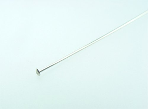 sterling silver 24 gauge head pin 1.5 inch @50 ()