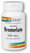 Solaray - Bromelain Extra Strength 500 mg. - 60 Capsules by Solaray