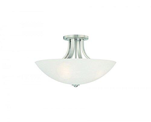 - Dolan Designs 203-09 3Lt Satin Nickel Fireside 3 Light Semi Flushmount