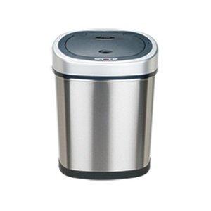 11.1 Gallon / 42 Liter Oval Shape Infrared Motion Sensor Hand-Free Hygiene Stainless Steel