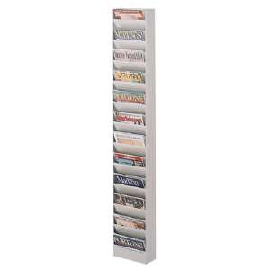 Buddy Products 23 Pocket Display Rack, Steel, 27.1 x 65.5 x 9.75 Inches, Putty (0813-6) by Buddy Products