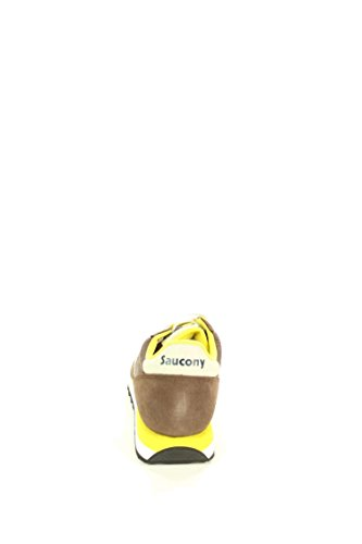 Saucony Jazz Original Sneakers Lacci Uomo Pelle Tessuto Brown Yellow Marrone S2044-416 Inverno 2018 Brown/Yellow