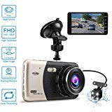 """Noonvenniac Dash Camera for car,Dash cam,Tvird Full HD 1080P with IPS Screen 4"""",Front and Rear Dual Channel Dashboard,160 Degree Wide Angle with Supreme Night Vision,G-Sensor,Motion Detection,WDR,Loop Recording price tips cheap"""