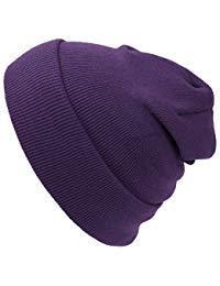 Cap911 Unisex Plain 12 inch long Beanie - Many Colors - Purple Long Beanie