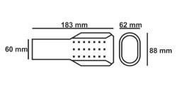 Bolo romo 407/universal Apertura de escape silencioso de doble tubo acero inoxidable Apertura de escape 43/ /57/mm de di/ámetro cromo