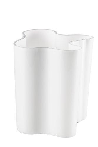 Iittala Alvar Aalto 8-Inch Vase, White - Iittala Aalto Flower Vase