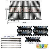 bbq factory® Replacement Nexgrill 720-0025 Grill Burner, Heat Plate, Cooking Grill Grates