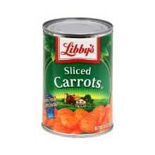 Libbys Medium Sliced Carrots, 14.5 oz.can, 24 cans per case