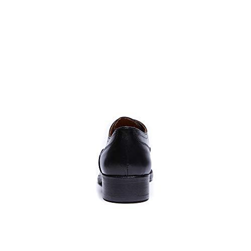 Toe Oxford Nero Donna Black Decorazione Stringata Colore Cap Di Francesina Scarpa Con fzwTx7qnIR