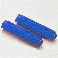 Coppia soffietti per forcelle ammortizzate made in italy prodotto universale di protezione in gomma manicotto parapolvere Lunghezza 320 mm Diametro 35//55 mm BLU