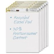 Post-it Easel Pad, 25 x 30-Inches , White Recycled, 30-Sheets/Pad, 6-Pads/Pack by Post-it