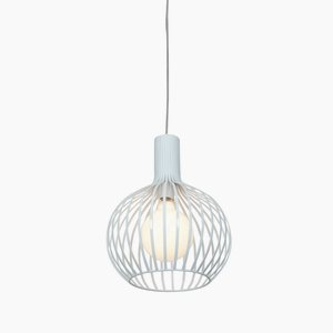 Access Lighting 23436-WH Chuki  One Light 12-Inch Diameter Pendant with Opal Glass Shade, White Finish by Access Lighting