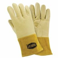 IRONCAT 6020 Premium Top Grain Pigskin Leather MIG Welding Gloves: Insulated Back, Large, 1 Pair