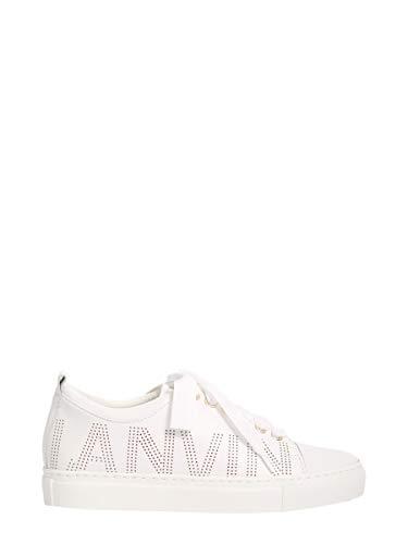 Pelle Sneakers Bianco Lanvin Donna Fwskpk0rnapea1801 StYqBSTHw