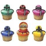 12 ct - Power Rangers Samurai Force Cupcake Rings