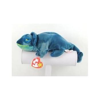 84625cd385b Amazon.com  Ty Beanie Babies Rainbow (Blue Tie-Dye) Chameleon  Toys ...