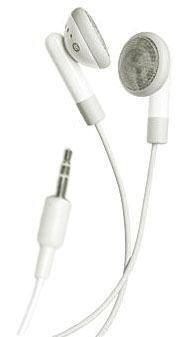 Stereo Earbud Headphone for Apple iPod nano/ iPod mini/ iPod video/ iPod shuffle