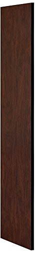 Access Side Panel (Salsbury Industries 30043MAH 24-Inch Deep Side Panel for Open Access Designer Locker and Designer Gear Locker without Sloping Hood, Mahogany Brown)