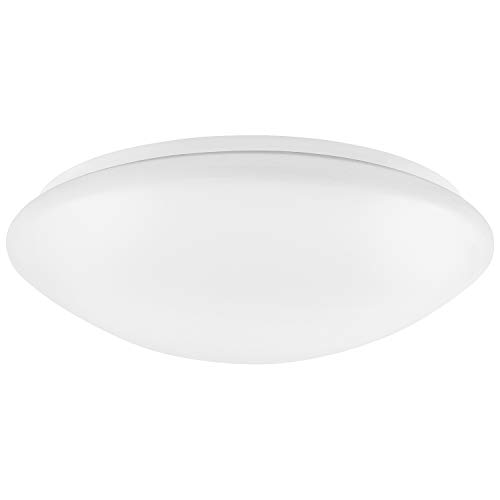 Luxrite 11 Inch LED Flush Mount Ceiling Light, 15W, 1100 Lumens, 3000K Soft White Dimmable, Modern Ceiling Light Fixture, Energy Star & UL Listed, Damp Location Rated