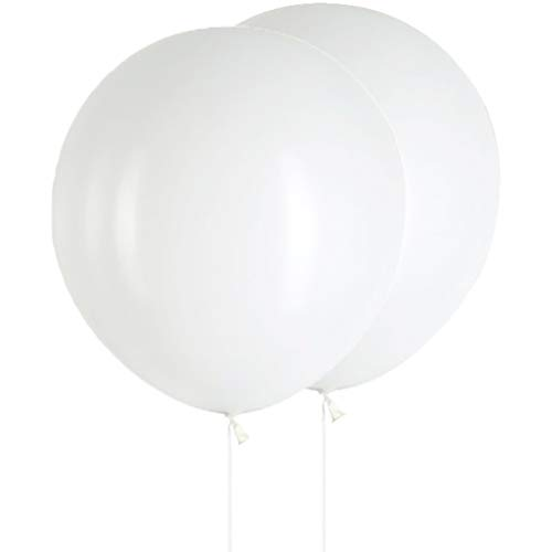 AZOWA Large White Party Balloons 36 in White Round Latex Balloons Party Decorations 6 Pack