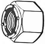 Handi Man Locknut (HANDIMAN 181 8-32 S/S LOCK NUT- 4/CD)