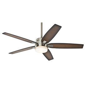 Hunter 59039 Windemere 54 in. Indoor Ceiling Fan with Light and Remote - Brushed Nickel (Hunter Remote Ceiling Fan compare prices)