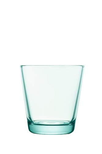 Iittala Kartio Set of Two Glass Tumblers, Water Green, 7-Ounce Capacity