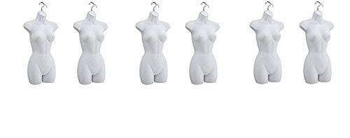 Only Mannequins Female Hook Hanging, White, Set of 2 (3-(Pack))