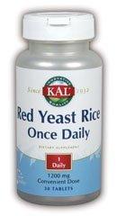KAL - Levure de riz rouge une fois par jour 1200mg - Tab 60ct
