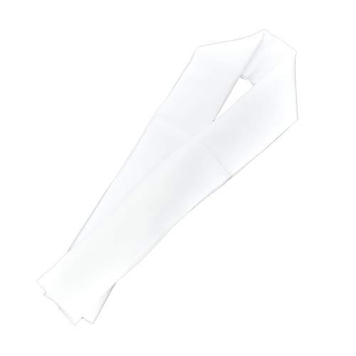 リサイクルする判決本当に半襟 白 塩瀬絹糸100% 黄変防止加工済 a108020