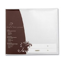 EK Success 8 Inch by 8 Inch Maple Lane Press Postbound Page Protectors, 10/Package