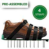 OXYVAN Lawn Aerator Shoes Universal Pre Assembled Spiked Aerating Sandals with 4 Adjustable Metal Straps for Soil and Grass Health Care ...