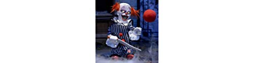 Animated Scary Clown Halloween Decoration and Prop, 7 1/2