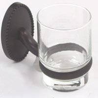 (Mintcraft L12158-50-10 Victorian Tumbler Holder with Glass Cup Oil Rubbed Bronze)