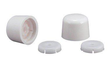 Plumb Pak PP835-30WHL Universal Round Toilet Push-On Bolt Caps, White