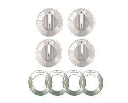 RANGE KLEEN 8224 Gas Range Knobs (4-pk, Chrome) (Oven Chrome Gas Knob)