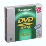 PANASONIC LMAF-120U Blank DVD-RAM Discs (3-Pack) (Discontinued by Manufacturer)