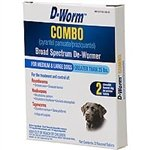 D-Worm 2 Count Combo Broad Spectrum De-Wormer for Dogs, Medium/Large (Dewormer Tablets)