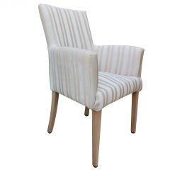 Esszimmer Stuhl mit Armlehnen Dining chair Oxford beige Polsterstuhl