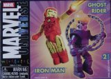 Rider Mini Figure - Marvel Mini-mates Iron Man and Ghost Rider Figure 2-pack - RARE