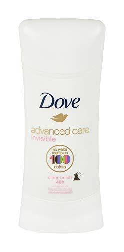 Dove Advanced Care Invisible Stick Antiperspirant Deodorant, Clear Finish, 2.6 oz