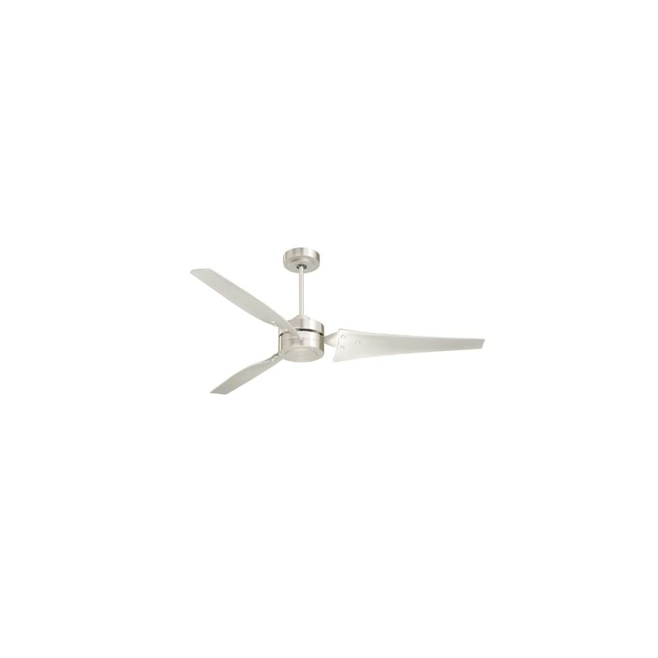 Emerson CF765BS Loft Indoor/Outdoor Ceiling Fan, 60 Inch Blade Span, Brushed Steel Finish and All Weather Brushed Steel Blades