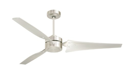 Emerson CF765BS Ceiling Fan with 4 Speed Wall Control and 60-Inch Blades, Brushed Steel Finish ()