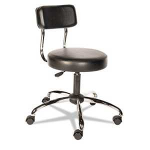 Alera Plus CS610 HL Series Height-Adjustable Stool with Back, Black