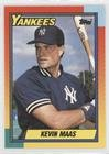 1990 Baseball Traded Topps (Kevin Maas (Baseball Card) 1990 Topps Traded - [Base] - Factory Set White Back #63T)